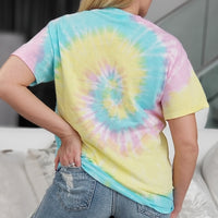 Sweet as Cotton Candy Tie Dye Tee-Tops-Moda Me Couture
