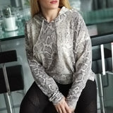 Snake print Ultra Soft Hoodie Top-Sweater-Moda Me Couture