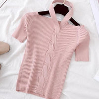 Elise Blush Ribbed Sweater Top-Tops-Moda Me Couture