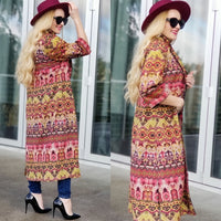 Boho Chic Suede Long Jacket-Jackets & Coats-Moda Me Couture