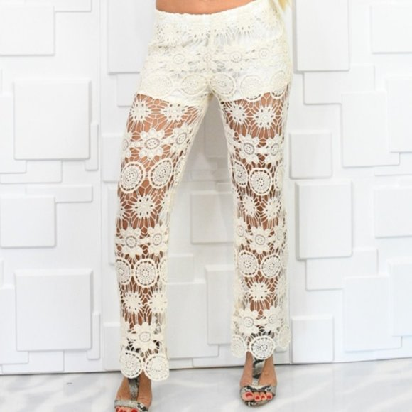 Crochet Pants-Pants-Moda Me Couture