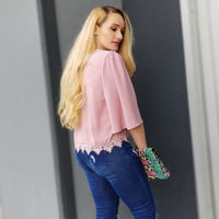 Blushing Babe Chic Blouse-Tops-Moda Me Couture