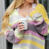 Staycation Oversized Multi Color Sweater-Sweater-Moda Me Couture