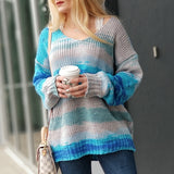 OCEAN BREEZE Blue Knitted Sweater Top-Sweater-Moda Me Couture