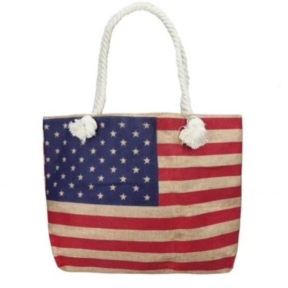 American Flag Tote-Accessories-Moda Me Couture