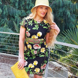 In Bloom Floral Embroidered Dress-Dress-Moda Me Couture