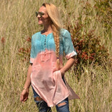 Ombre Tunic Top Coral