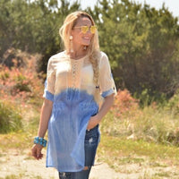 Ombre Tunic Top Blue