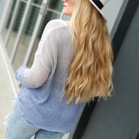 Ombre Oversized Knit Top