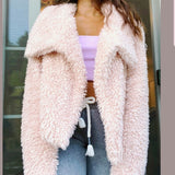Angie Blush Faux Fur Coat