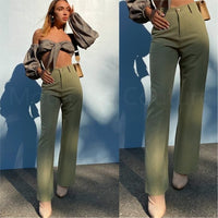 Business Olive Pants