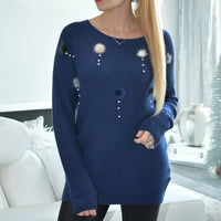 Furry Pom Pom Sweater-Sweater-Moda Me Couture