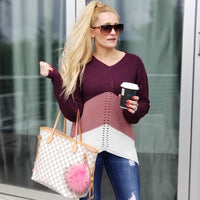 Cozy & Comfy Striped Sweater-Sweater-Moda Me Couture