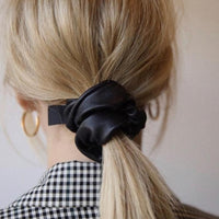 2 Faux Leather Scrunchies