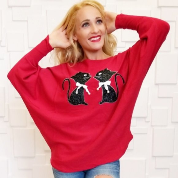 Kitty Sweater Top