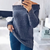 Aiden Ribbed Sweater Top Blue