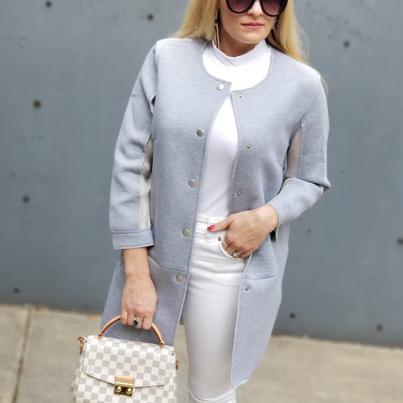 Gray Structured Jacket