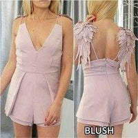 Angel Wings Romper-Pants-Moda Me Couture