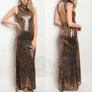 Julia Sequin Gown-Dress-Moda Me Couture