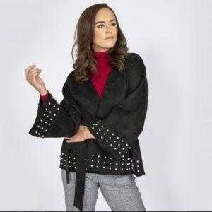 Anna Faux Suede Wrap Jacket-Jackets & Coats-Moda Me Couture ®