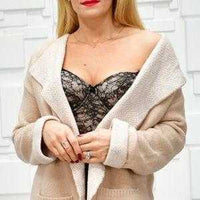 Classy Cardigan With Pockets-Sweater-Moda Me Couture