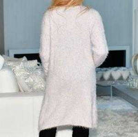 Fuzzy Knit Cardigan Lavender-Sweater-Moda Me Couture ®