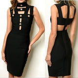 Alyona Bandage Bodycon Dress-Dress-Moda Me Couture ®