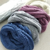 Knitted Infinity Scarf Gray-Accessories-Moda Me Couture