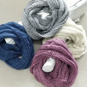 Knitted Infinity Scarf Cream-Accessories-Moda Me Couture