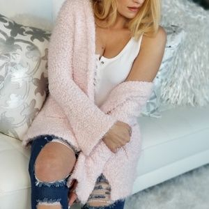 Ultra Soft Cardigan - Pink-Sweater-Moda Me Couture