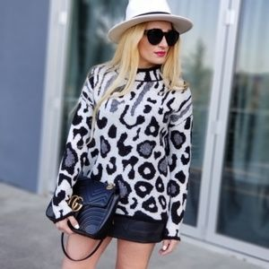 Animal Print Comfy Sweater-Sweater-Moda Me Couture