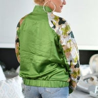 Camo Print Sequin Jacket-Jackets & Coats-Moda Me Couture