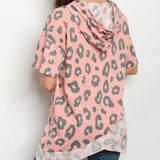 Leopard Print Hoodie Top-Tops-Moda Me Couture