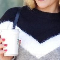 Meant To Be Soft Chevron Sweater Black-Sweater-Moda Me Couture