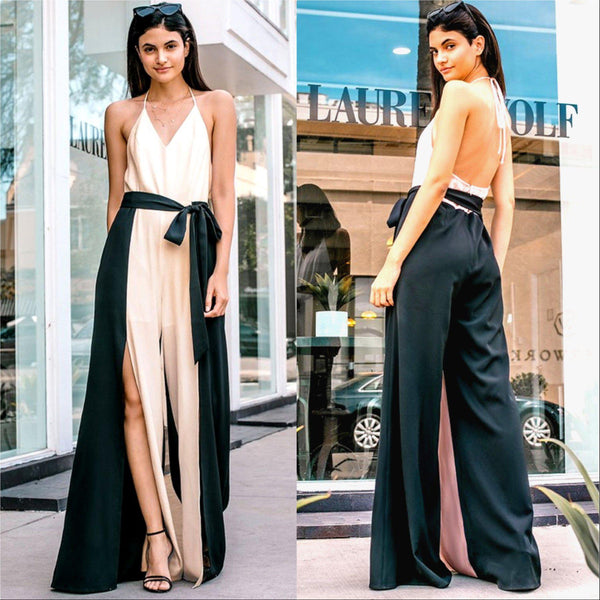 Effortlessly Chic Black Jumpsuit-Pants-Moda Me Couture