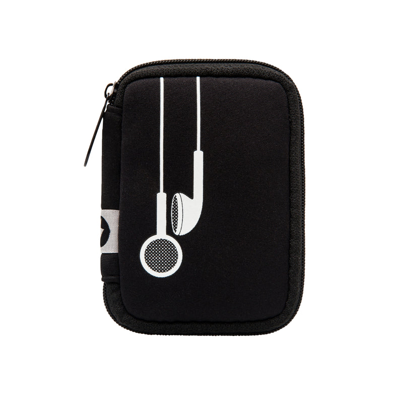 EAR BUD CASE - PLUG IN BLACK