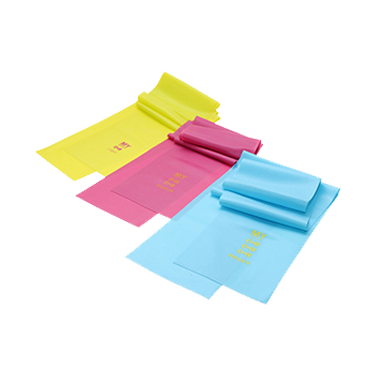 SET OF 3 RESISTANCE BANDS - YELLOW, PINK, BLUE