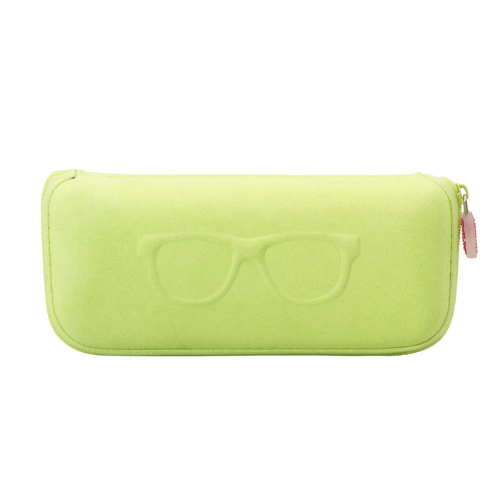EYEGLASS/SUNGLASS CASE - LIME