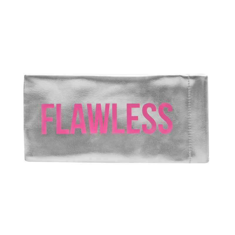 FLAT EYEGLASS/SUNGLASS CASE - FLAWLESS/SILVER