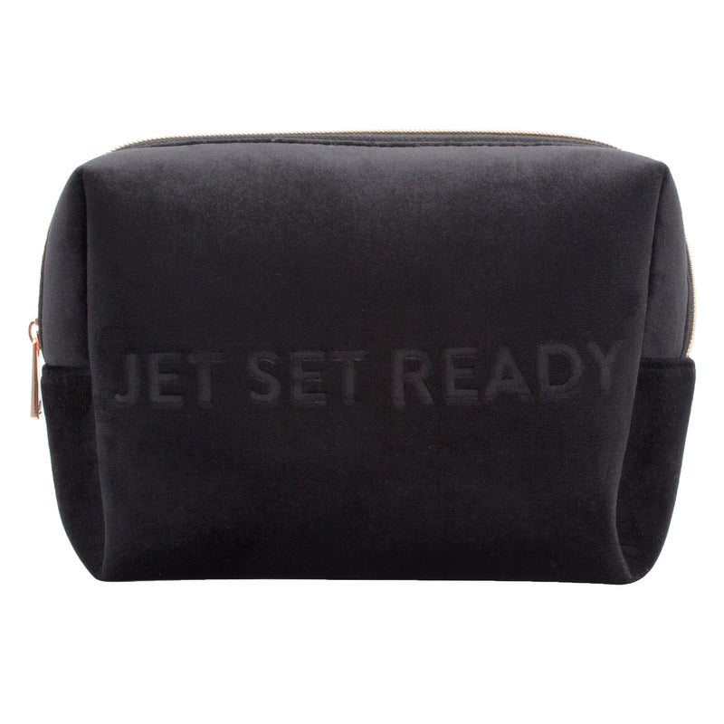 LARGE COSMETIC CASE - VIXEN BLACK (velour finish)