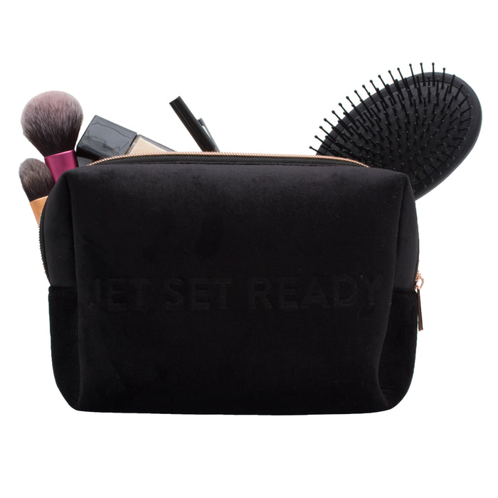 VIXEN JETSETREADY LARGE COSMETIC POUCH (velvet finish)