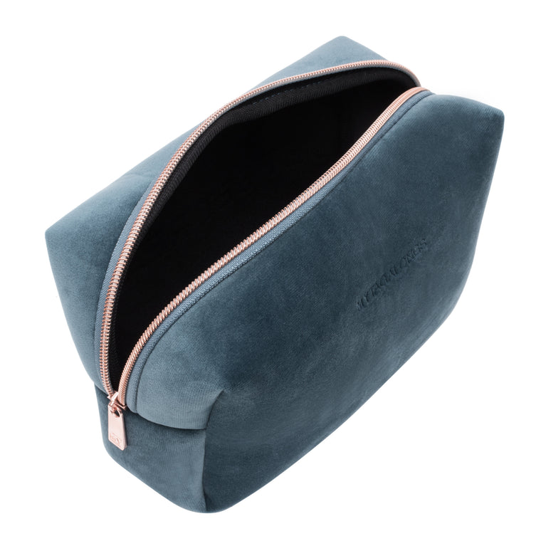 LARGE COSMETIC CASE - VIXEN INDIGO (velour finish)