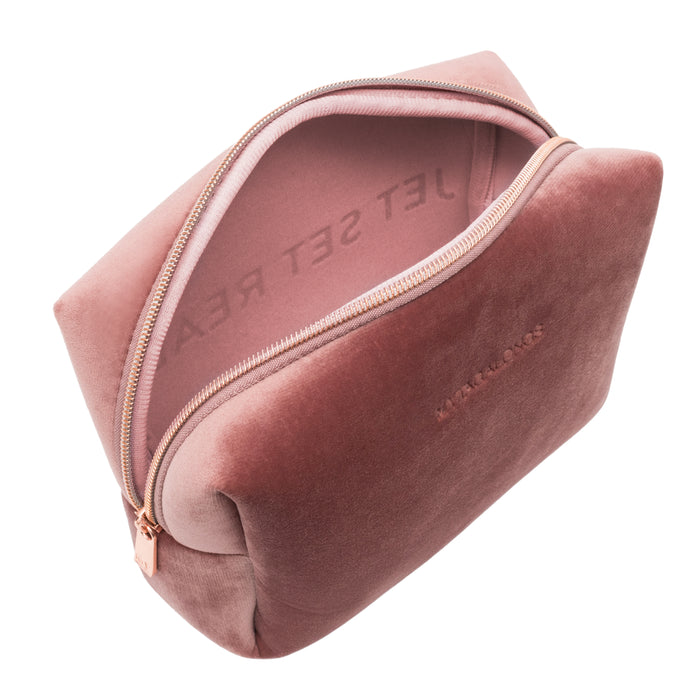 LARGE COSMETIC CASE - VIXEN ROSE (velour finish)