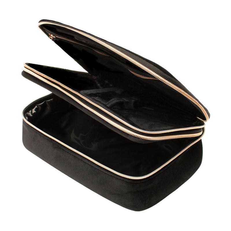 DELUXE BEAUTY ORGANIZER - VIXEN BLACK (velour finish)