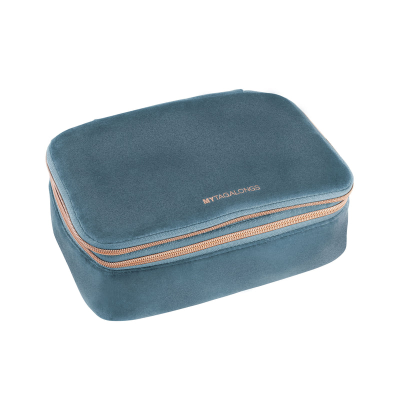 DELUXE BEAUTY ORGANIZER - VIXEN INDIGO (velour finish)