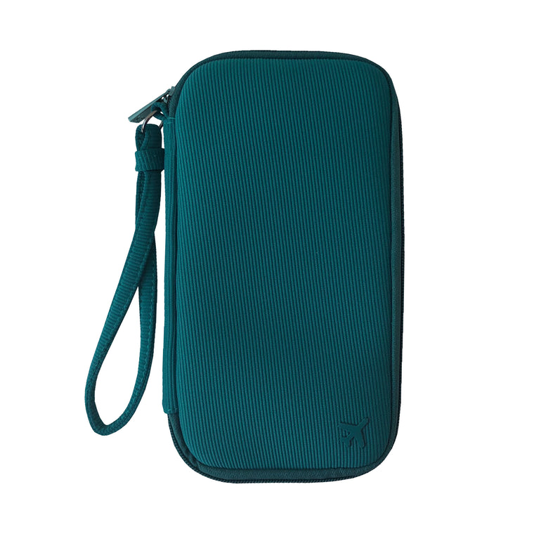 TRAVEL DOCUMENT CADDY - ST. BARTHS TEAL