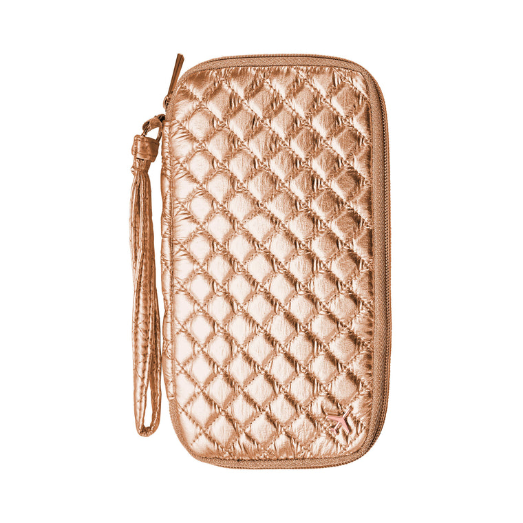 TRAVEL DOCUMENT CADDY - ODYSSEY ROSE GOLD