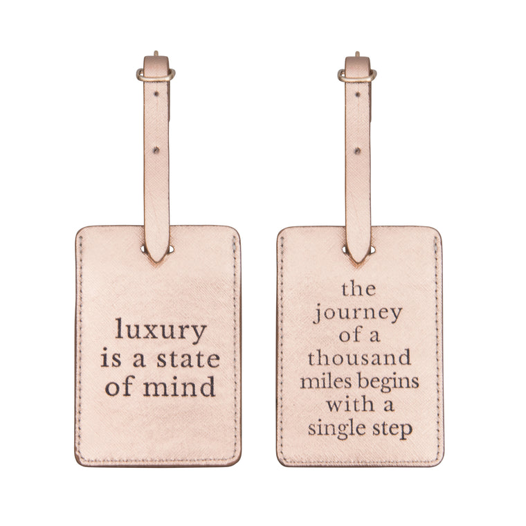 SET OF 2 LUGGAGE TAGS - DEFINITIONS