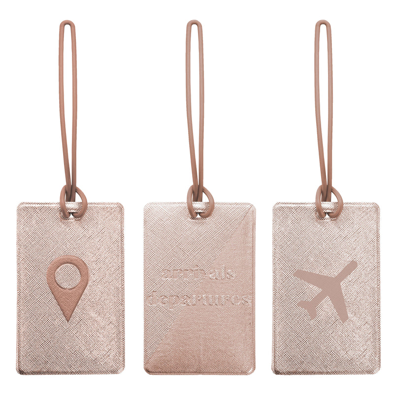 SET OF 3 LUGGAGE TAGS - ODYSSEY ROSE GOLD