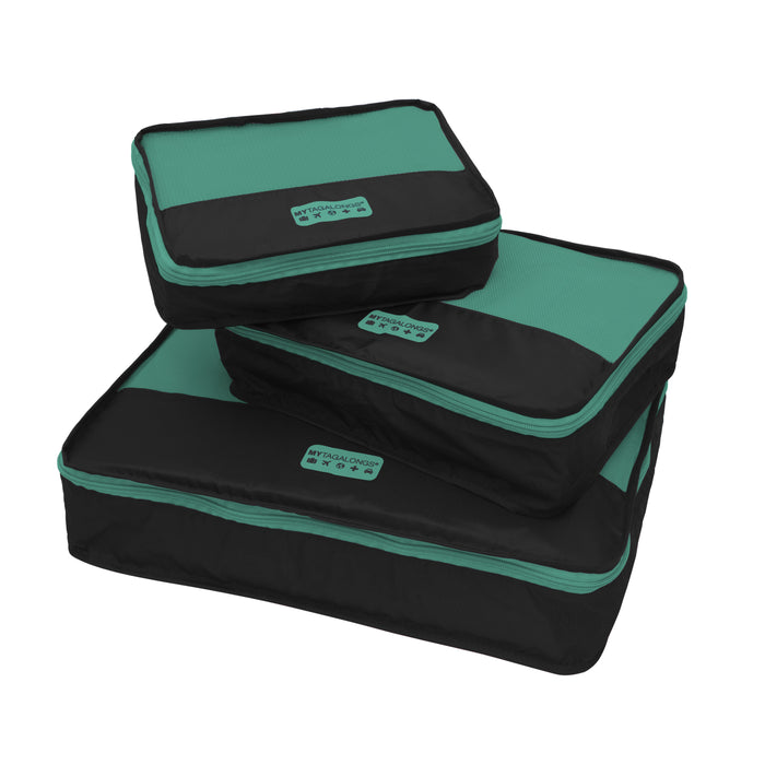 PACKING PODS - BLACK/TEAL